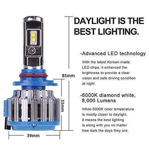9006//HB4 V12 CSP LED HEADLIGHT Bulbs KIT 8000lm per TOYOTA COROLLA VERSO 01-On