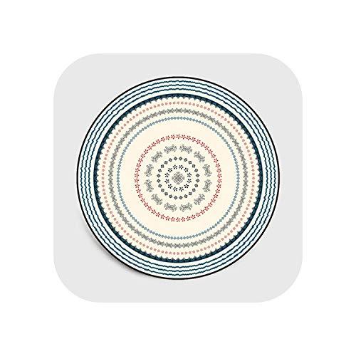leaf-only Große Kamin-Herd Teppiche, Nordische Geometrische Runde Teppiche Für Wohnzimmer Sofa Stuhl Teppich Kinder Spielen Zelt Bodenmatte Garderobe Teppiche Und Teppiche-Teppich1-Durchmesser 80cm