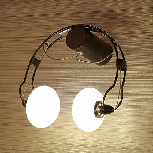 FMGR Aplique Pared Interior LED Lámpara De Pared Moderna para Salon Dormitorio Sala Pasillo Escalera,Lámpara De Pared para Auriculares,Negro