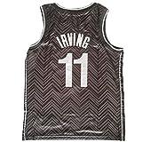 OLJB Kyrie Irving Brooklyn Nets #11 Fan Edition - Camiseta de baloncesto sin mangas, transpirable, la mejor opción de regalo negro-S