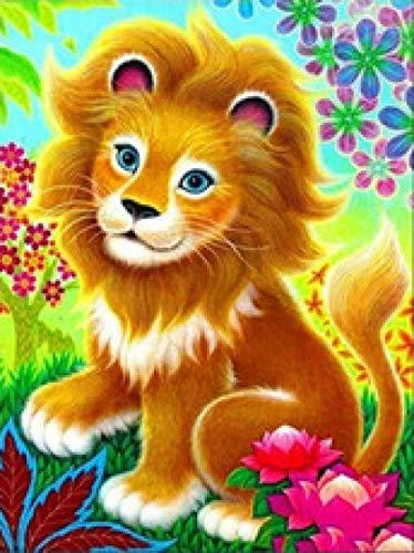 AZSXD 1000 Rompecabezas para Adultos, león de Dibujos Animados, Rompecabezas, Material de Madera Verde, Juego de Rompecabezas de Pensamiento Abierto