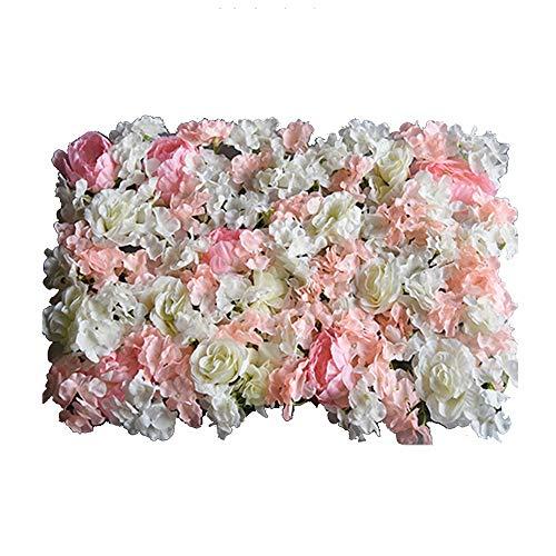 LVZAIXI Fake Flowers Gordijn BloemenDecoratie bloem muur Kunstmatige Rose Wedding Achtergrond Pasgeborenen Party Achtergrond (Color : D, Size : 40x60cm)