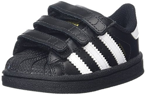 adidas Unisex Baby Superstar Gymnastikschuhe, Schwarz (Core Black/Footwear White/core Black), 23 EU