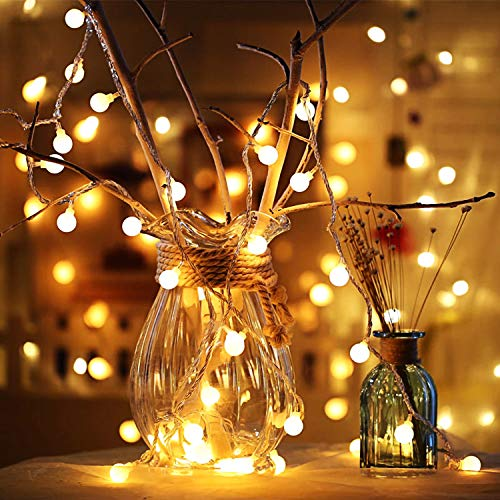 Globus Lichterketten, 6M 40Pcs LED Batteriebetriebene Lichterketten, Shining Decoration Lightning für Valentinstag Weihnachten Hochzeit Geburtstag Holiday Party Schlafzimmer Indoor & Outdoor