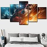 Leinwanddrucke Hauptdekoration Superheld The Flash Poster 5