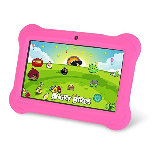 7inch Kids Tablet Quad Core Android 4.4 Multi-Touch Screen Google Play Store Bluetooth (Pink)
