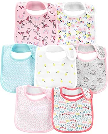Simple Joys by Carter s Girls 7 Pack Teething Bibs Multi One Size product image
