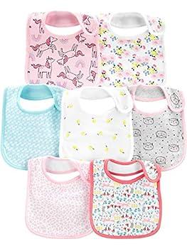 Simple Joys by Carter s Girls  7-Pack Teething Bibs Multi One Size