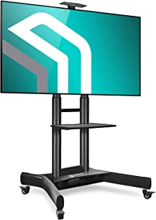 حامل تلفزيون متنقل من اونكرون بعلات دوارة مثبتة للشاشة 40 بوصة - 70 بوصة شاشة LCD مسطحة، حامل بعجلات، ارتفاع قابل للتعديل...