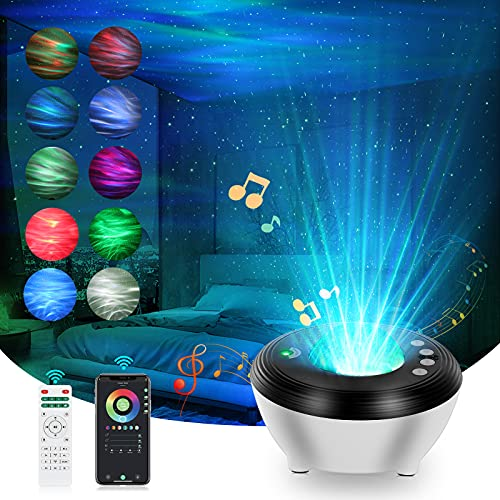 Star Light Galaxy Projector for Bedroom, NARFISH Aurora Star Light Projector 6 in 1 Smart WiFi Night Light Work with White Noises Bluetooth Music Speaker for Baby Kids Adults Home Decor Ceiling Party