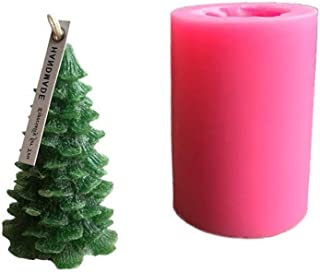 DGQ Silicone Christmas Pine Tree Candle Molds DIY Baking Molds Soap Molds Candle Making Supplies Ideal Moulds