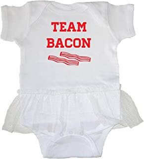 Tasty Threads Unisex Baby Everythings Better With Bacon Black Print Pink, 6 Months T-Shirt Romper