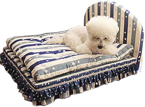 Comfortabel hondenbed, huisdierbed, opvouwbaar, tegen haren, voor huisdieren, accessoires voor huisdieren, Chenil, hoge dichtheid, bank voor huisdieren, nest voor huisdieren, loungeset voor dieren, 4-delige set (maat: L (75 x 60 x 45 cm), M(55x45x43cm)