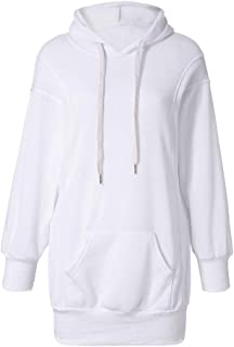 TOTOD Women Long Hoodies Sweatershirt Fashion Solid Color Clothes Pullover Coat Boutique Hoody Jumper Tops
