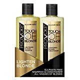 PRO:VOKE Illuminex Touch of Blonde Lightening Blonde Shampoo and Conditioner Duo Pack, 200 ml