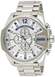 Diesel Men's Mega Chief Quartz Stainless Steel Silver with Silver Dial DZ4477