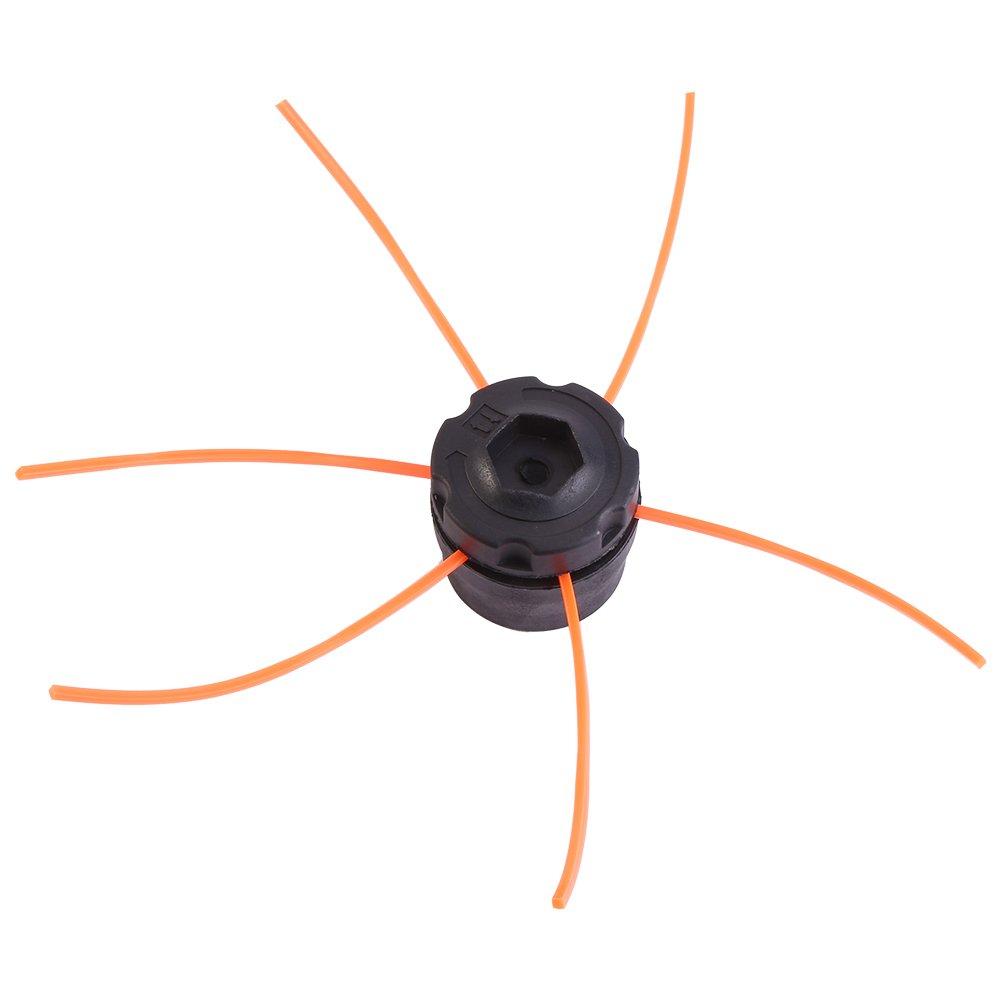 Garsent - Cabezal de desbrozadora universal de aluminio, alambre, cabezal de doble hilo, cabezal de hilo de nailon para desbrozadora, Negro: Amazon.es: Jardín