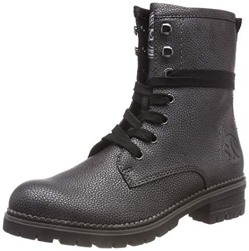 s.Oliver Damen 5-5-25225-21 Combat Boots, Grau (Pewter Met. 917), 41 EU