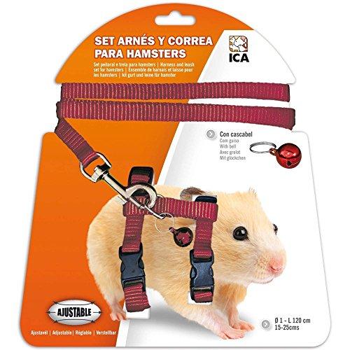 ICA DA975 Set mit Geschirr und Gurt für Hamster, Violett