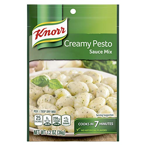 Knorr Pasta Sauce Mix Creamy Pesto 1.2 Ounce (Pack of 24)