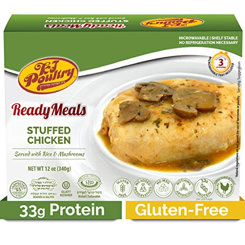 Kosher MRE Meat Meals Ready to Eat, Gluten Free Stuffed Chicken Breast Rice (1 Pack) - Prepared Entree Fully Cooked, Shelf Stable Microwave Dinner – Travel, Military, Camping, Emergency Survival Food