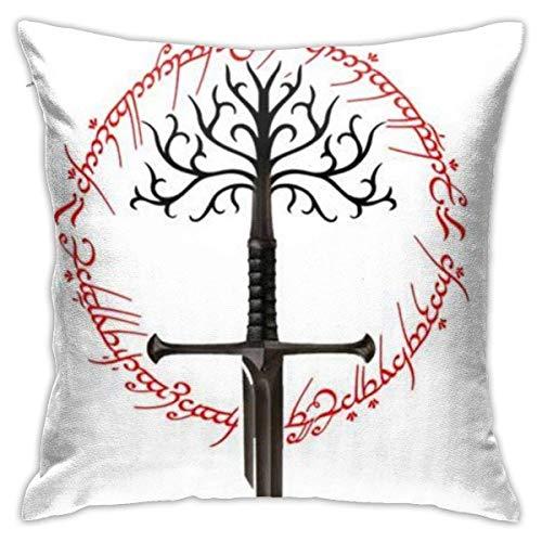 Lord Rings - Fundas de cojín decorativas de algodón para sofá o cama