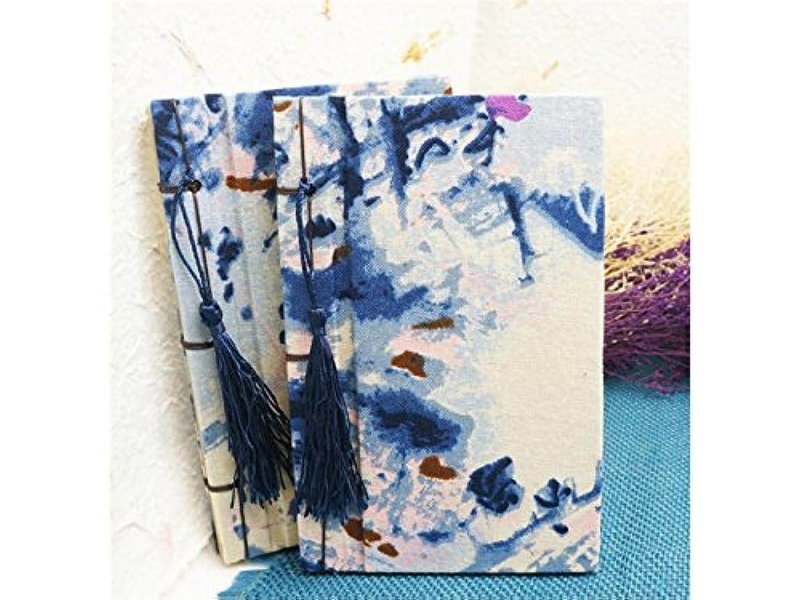 言い直すゴルフ有害FenBuGu-JP レトロな中国の風景インク塗装ノートブックジャーナルタッセル手作りの日記ノートブックと雑誌ペーパーブック(ブルー)