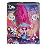 TROLLS DreamWorks World Tour - Muñeca interactiva con Pelo móvil, para niñas y niños a Partir de 4 años