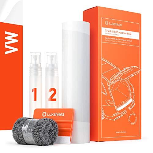 Luxshield Ladekantenschutz Folie Komplettset - Golf 7 (VII) AU/5G I 2012-2019 - Stoßstangenschutz, Kratzschutz, Lackschutzfolie - Transparent glänzend Selbstklebend