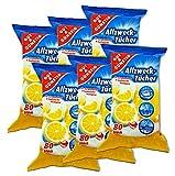 Gut & Günstig Feuchte Reinigungstücher in Spenderverpackung 480 Stück - 6er Pack für die gründliche & hygienische Reinigung (Inhalt 6 x 80 Stück)