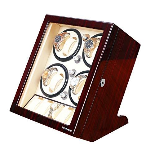 zyy Concha Madera Bobinadora for Relojes, 5 Silencio Modo Rotación, Anti-magnetización, Mulit Cajas Giratorias for Relojes Automatico (Color : C)