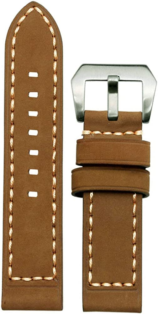 Top Grain Leather Watch Strap 20mm Genuine Super popular specialty store 22mm Thick Translated Calfskin S