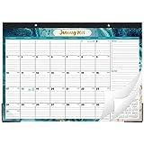 2021 Desk Calendar - Yearly Desk Calendar 2021, Desk/Wall Monthly Calendar Pad with Julian Date, 17' x 12', January 2021 - December 2021, Ruled Blocks, Quicksand