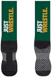 Just Wrestle Printed Mid Calf Socks | Wrestling Socks by ChalkTalkSPORTS | Multiple Sizes