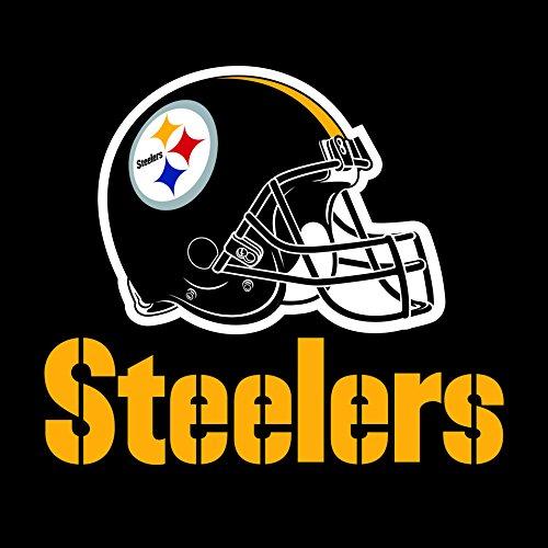 Creative Converting All Over Druck Pittsburgh Steelers Kunststoff Bankett Tisch Cover, Papier, schwarz, Einheitsgröße