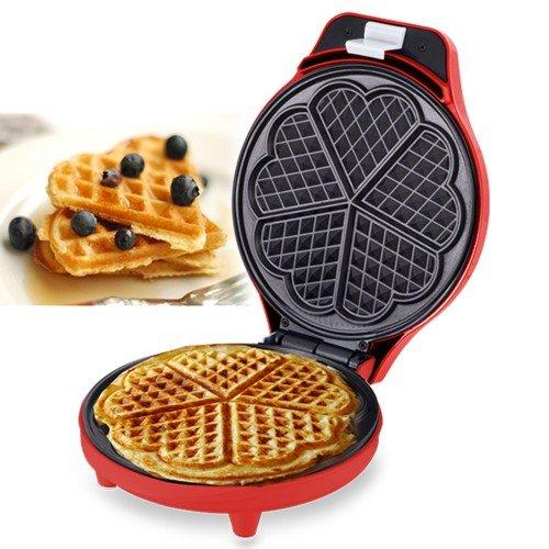 FAST WORLD SHOPPING Piastra per Waffle Piastra WAFFEL Maker 700 Watt GRIGLIA A Cuore WAFFRE Wafer