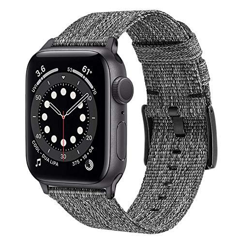 TRUMiRR Remplacement pour Apple Watch 42mm 44mm Bracelet de Montre, Bracelet en Nylon tissé Bracelet de Montre de Sport Bande de Remplacement pour iWatch Apple Watch Se/Apple Watch Series 6 5 4 3 2 1