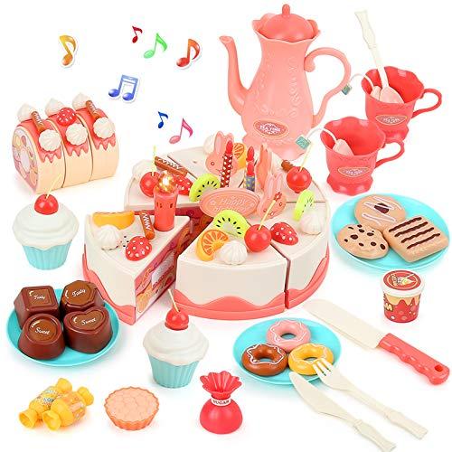 BeebeeRun Pastel de cumpleaños,Juguete Alimentos ,Juguetes niñas 3 años