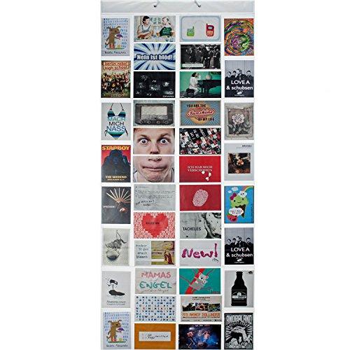 Fotovorhang XXL Bildervorhang Photo-Vorhang mit 40 Taschen für 80 10 x 15 cm Fotos Postkarten Motivkarten - Duschvorhang Fotogalerie; Milchig-Photoshop-Optik