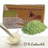 Eselsmilchseife mit 21% Eselsmilch Olivenöl grüne Tonerde -  handgemachte natürliche Seife bei...