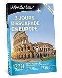 Wonderbox - Coffret cadeau - 3 JOURS D'ESCAPADE EN EUROPE - 1230 séjours en hôtels 3* ou 4*. à Rome, Lisbonne, Porto, Liège, Naples.