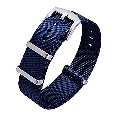 Ritche Nylon Watch Strap with Heavy Buckle 18mm 20mm 22mm Premium Seat Belt Nylon Watch Bands for Men Women