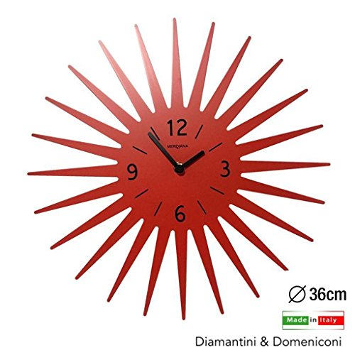 Diamantini e Domeniconi Wanduhr Sonne Orange Durchmesser 36 cm