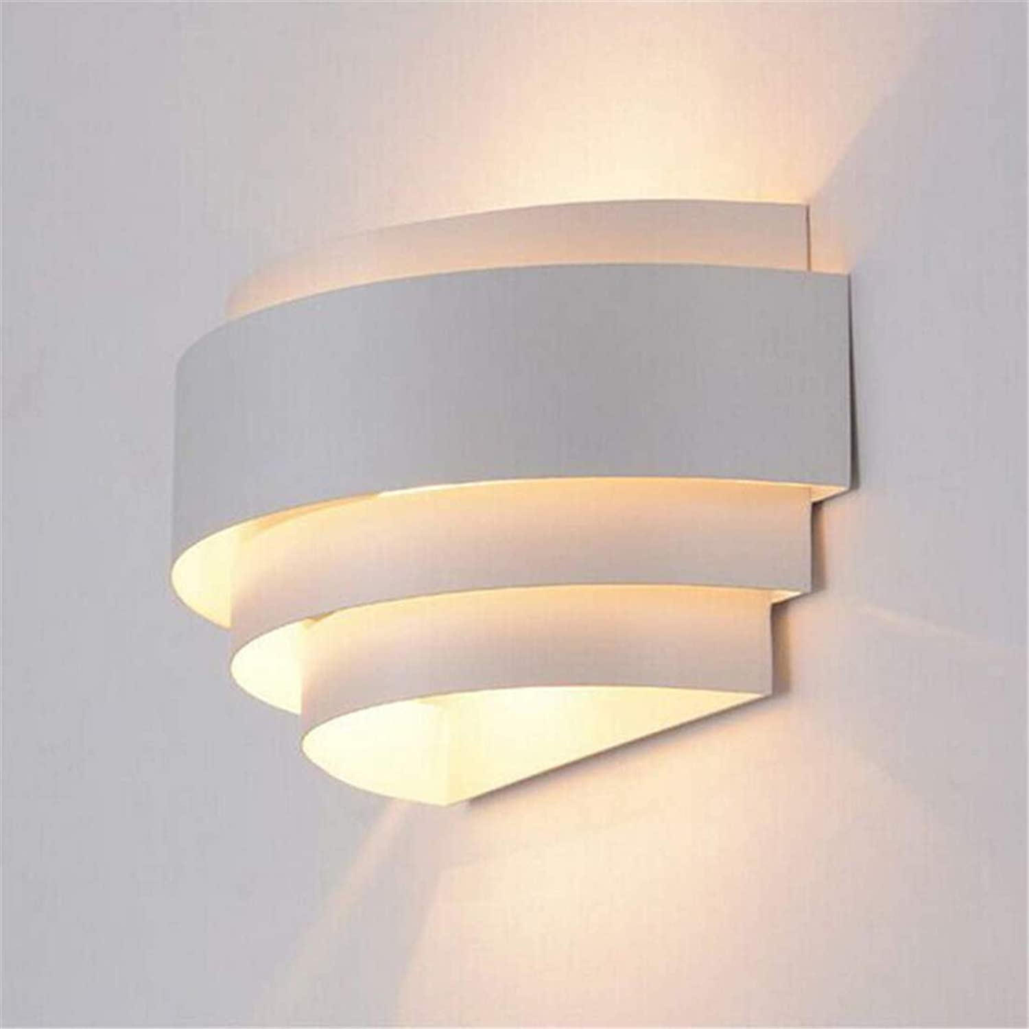 Lichtmodern Minimalist Led Wrought Iron Wall Lamp Living Room Bedroom Bedside Round Wall Lamp