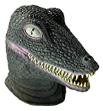 Forum Novelties Men's Deluxe Adult Latex Crocodile Mask, Multi Colored, One Size