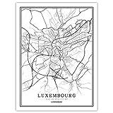 LucklyingBao Kunstdrucke Leinwand Luxemburg