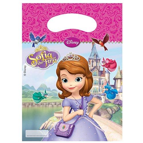 Pochettes à cadeaux princesse Sofia (x6)