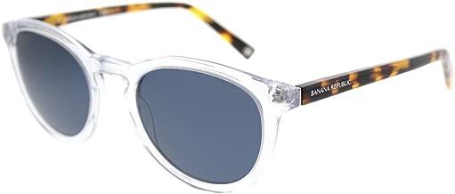 Banana Republic Johnny 900 KU Crystal Plastic Round Sunglasses Blue Lens