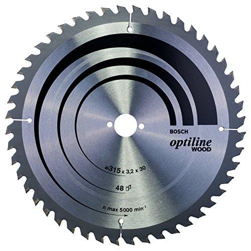 Bosch 2 608 640 673 - Hoja de sierra circular Optiline Wood - 315 x 30 x 3,2 mm, 48 (pack de 1)
