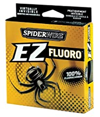 100-Percent fluorocarbon Won't absorb water Invisible underwater to fish Low stretch for increased sensitivity 15 pound test, clear, 200 yards